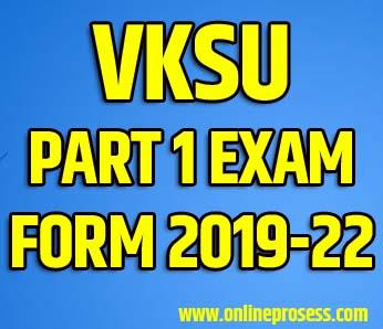 VKSU Part 1 Exam Form 2021