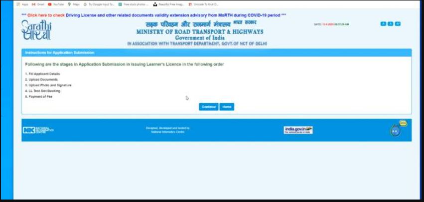 driving licence in bihar online apply