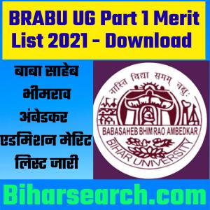 BRABU UG Part 1 Merit List